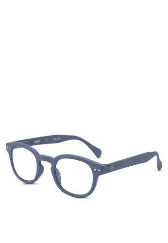 Izipizi 灰色 抗藍光圓框太陽眼鏡 E42E1GLEF249C5GS_1