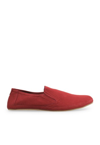Minarno red Red Canvas Slip-On ND08 MI641SH24DLJID_1