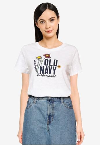 Old Navy white EveryWear Logo-Graphic Tee 29446AA103F757GS_1