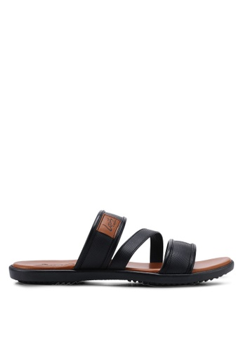 Louis Cuppers black Casual Strappy Sandals B279FSH39E81ABGS_1