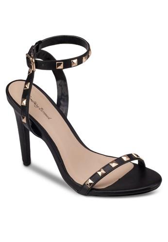 鉚釘踝帶高跟涼鞋, 女鞋,zalora 手錶 評價 高跟