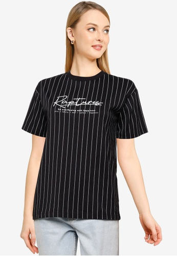 LOWRYS FARM white Graphic Stripe T-Shirt E0D1EAAD88B125GS_1