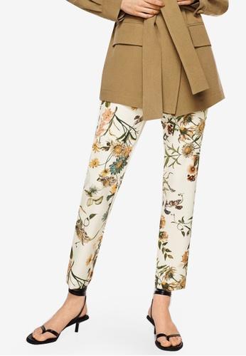 Mango white Printed Trousers 08B01AA82A8E4FGS_1