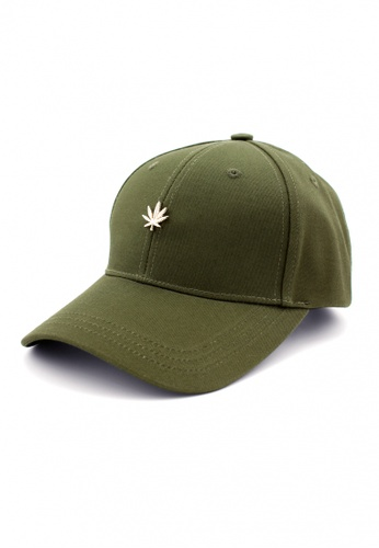 HATER green Gold Leaf Stud Cap (Dark Green) ED70EACCE33DC0GS_1