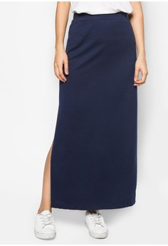 Basics Maxi Skirt With Side Slits