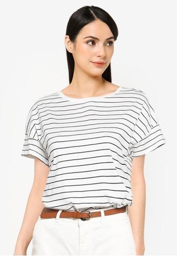 Springfield beige Printed Shoulder Buttons T-Shirt BCF50AACF6E69AGS_1