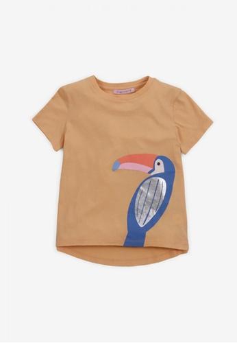 Gingersnaps yellow Girls Toucan Print T-Shirt 270E4KAEE55FF1GS_1