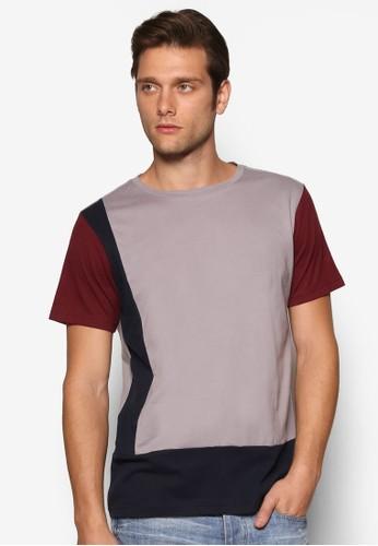 色塊短袖上衣, esprit地址服飾, 素色T恤