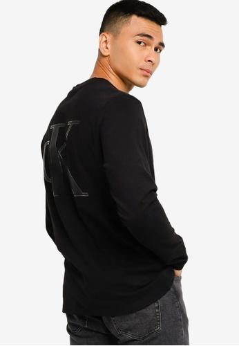 Calvin Klein black Back Logo Tee - CK Jeans B9DE1AA01900F5GS_1