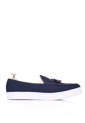 Zeve Shoes blue Zeve Shoes Belgian Sneakers With Tassel - Dark Blue Jeans CB11ESHC82ABE2GS_1