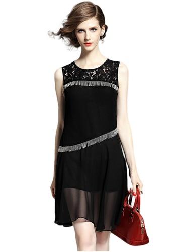 Sunnydaysweety black Black Vest Tassel One Piece Dress K20042405 D9577AA04EF8FCGS_1