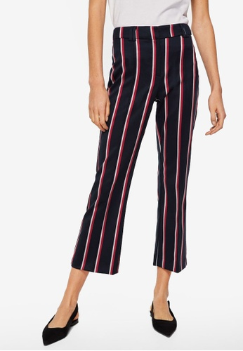Mango blue Straight Striped Trousers B6A8DAA4033336GS_1