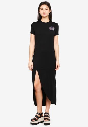 Something Borrowed black Asymmetric Hem Midi Dress E7FAFAAE18587DGS_1