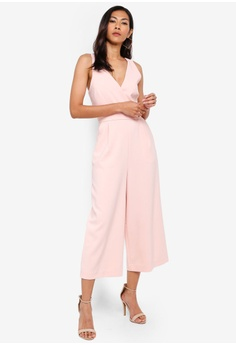 5279366bd62 WAREHOUSE pink Cross Back Jumpsuit DCE26AAC61F558GS 1