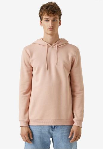 KOTON pink Plain Hoodie CB76EAA4528AACGS_1