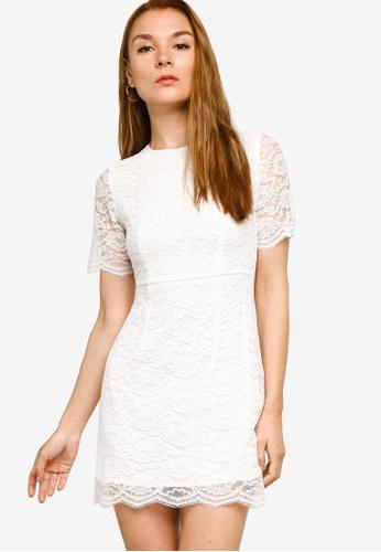 ZALORA OCCASION white Lace Fit & Flare Dress 2536EAAA9EBA1CGS_1