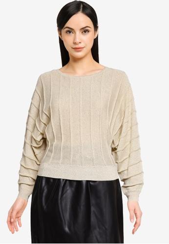 Vero Moda beige Danet Sparkle Knitted Sweater 87659AA2CDBDCCGS_1