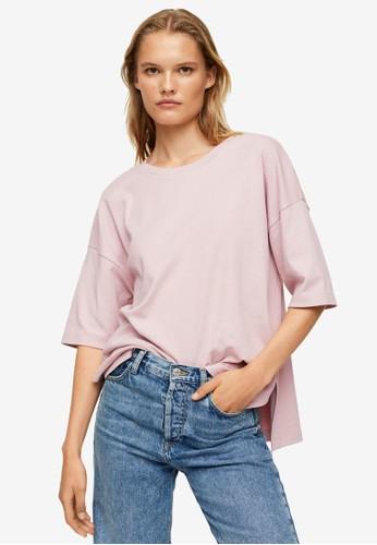 Mango pink Oversize Cotton T-Shirt 94DC9AA853783CGS_1