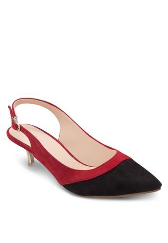 雙色繞踝低跟鞋, 女esprit outlet hong kong鞋, 低跟