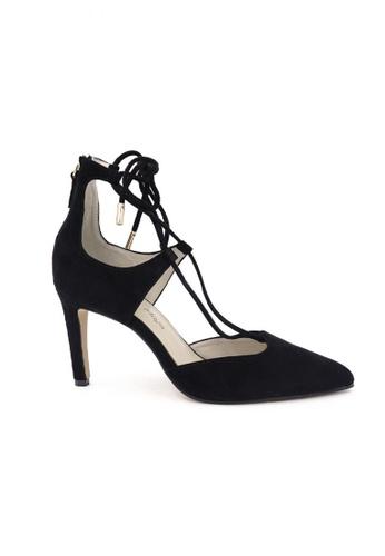 OSCAR & MAYA black MISHA 9cm High Heel With Criss-cross Laces OS304SH03GLOHK_1
