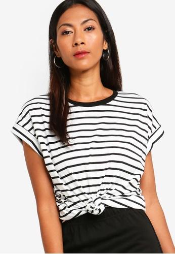 ZALORA BASICS white Basic Rolled Cap Sleeves T-Shirt 2C472AAD71F18CGS_1