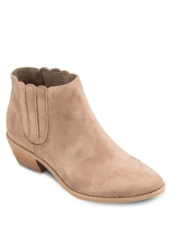 Ciaresprit台灣di 簡約木製粗跟踝靴, 女鞋, 鞋