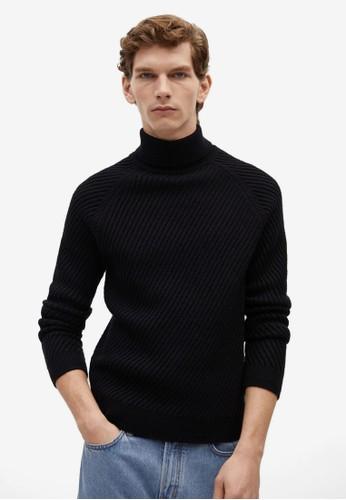 MANGO Man blue Turtle Neck Wool Sweater 1C8A1AA52BCA87GS_1