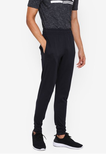 Under Armour black Rival Jersey Joggers B4329AA04B48A7GS_1
