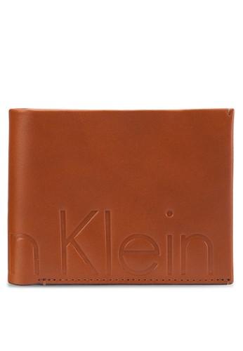 品牌文字浮雕對折皮夾, 飾品配件, 飾品配esprit taiwan件