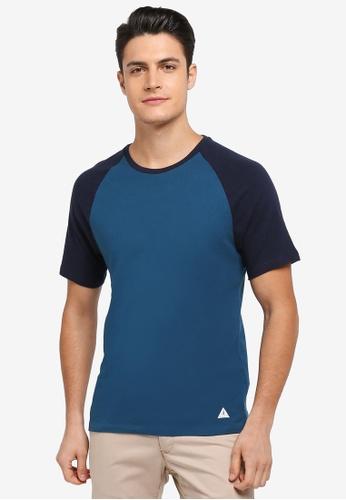 Jack Wills 海軍藍色 Verwood Raglan T-shirt 30892AA1AEF150GS_1