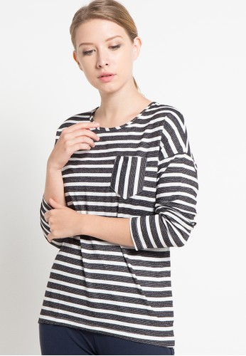 EDITION grey Knit Top Long Sleeves ED101AA28QZFID_1