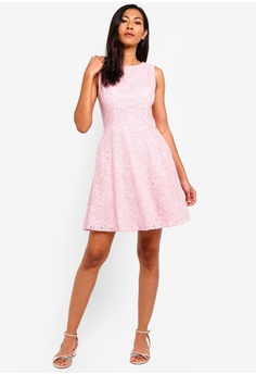 34784918e083 33% OFF ZALORA BASICS Basic Fit And Flare Lace Dress HK$ 249.00 NOW HK$  167.90 Sizes XS S M L XL
