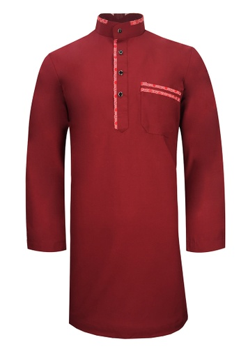 Pacolino red Baju Kurta Muslim For Kids - D27039 (Maroon) AA913KAD3C0756GS_1