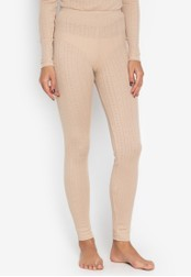 MARKS & SPENCER beige Thermal Ankle Length Leggings 2694AAA56A5870GS_1