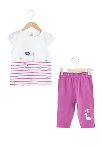 LC Waikiki white Girl Pyjama Set BB871KAB9B3D46GS_1