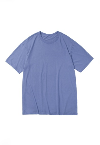 Twenty Eight Shoes purple VANSA Unisex Solid Color Short-sleeved T-Shirt VCU-T223 DD3EFAAFD65EBEGS_1
