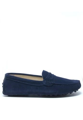 Twenty Eight Shoes 藍色 女裝真猄皮豆豆鞋M88 560D5SHA4182B8GS_1