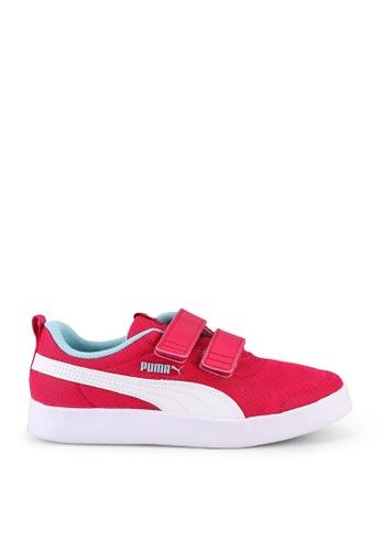 PUMA 粉紅色 Puma Sportstyle Core Courtflex V2 Mesh Trainers 001E3KS4DA6242GS_1