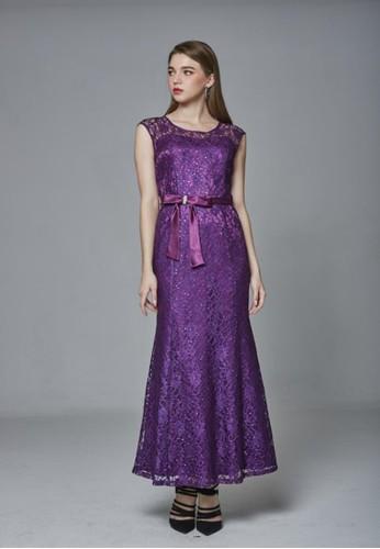 歐esprit tote bag美系優雅蕾絲魚尾長禮服, 服飾, 派對洋裝