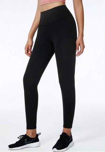 B-Code black ZWG5001-Lady Quick Drying Running Fitness Yoga Sports Leggings-Black 9E326AA6FFA9B9GS_1