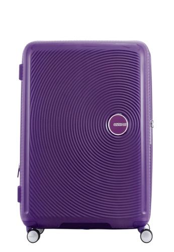 American Tourister purple American Tourister Curio Spinner 80 30 EXP TSA  AM536AC68ZXZSG 1 95b56caff1