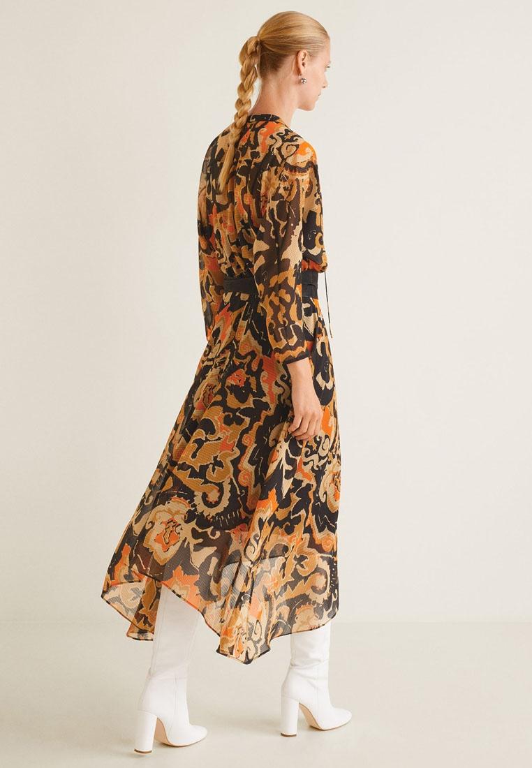 Long Long Brown Brown Mango Printed Printed Dress Printed Dress Mango Long Pn1dxB0qwP