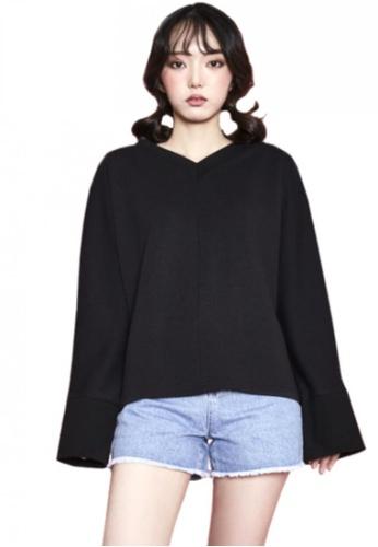 A X A black Dolman Sweat Shirt AX230AA71CDOSG_1