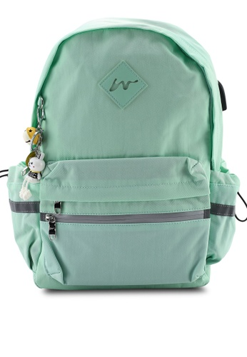 Bagstationz green Fashion Laptop Backpack 36CACAC6A28B49GS_1