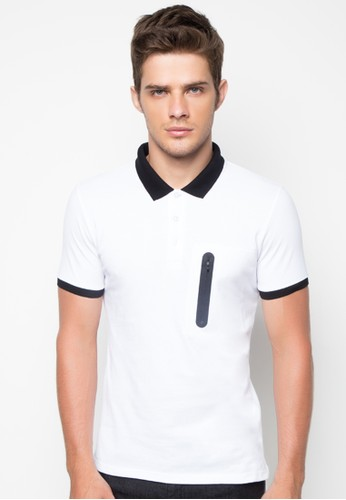 Jacquard Polo Shirt with Baseball Collar