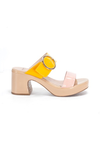 Shu Talk pink WONDERS Retro Buckle Comfy Slip on Sandal Heels 5F4D5SHACB027FGS_1