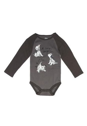 FOX Kids & Baby grey Graphic Bodysuit EEA5FKAD78604EGS_1