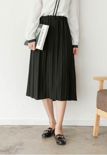 褶飾及膝短esprit 價位裙, 服飾, 裙子