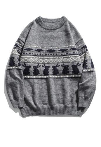 Twenty Eight Shoes Retro Cartoon Rabbit Knit Sweater HH0585 85663AA5EE12FDGS_1