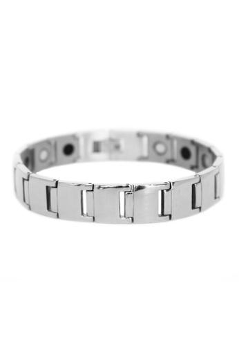 Elfi silver Elfi Stainless Steel Magnetic Power Energy Health Bracelet Bangle 05 7E742AC23B0DB4GS_1